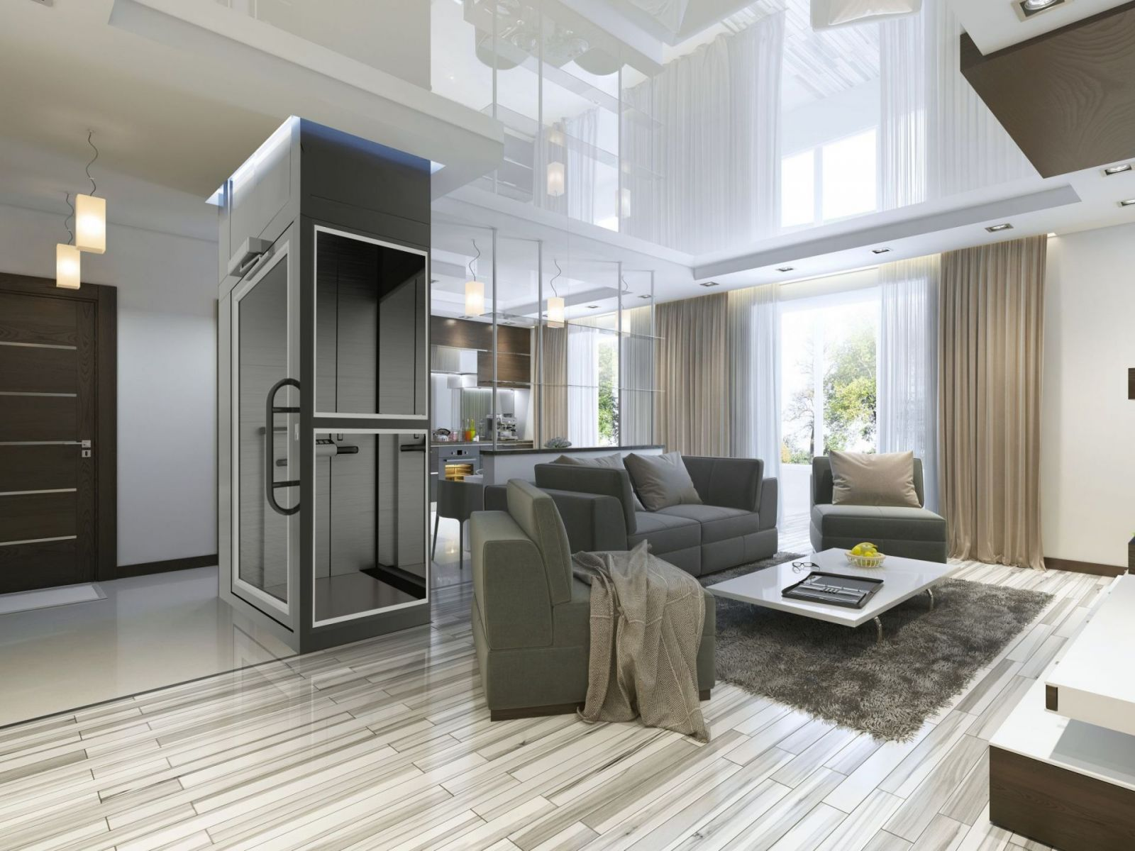 Condato home lift in modern house